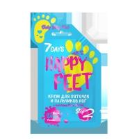 7 DAYS HAPPY FEET - Крем для пяточек и пальчиков ног BABY SILKY FEET с маслами Ши и Мяты, 25 г