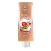 Premium Silhouette Strawberry & Cream - Скраб-десерт, 200 мл