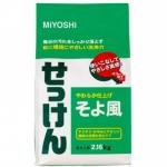 Фото Miyoshi - Порошковое мыло для стирки на основе натуральных компонентов, с ароматом цветочного букета, 2160 г