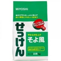 Miyoshi - Порошковое мыло для стирки на основе натуральных компонентов, с ароматом цветочного букета, 2160 г