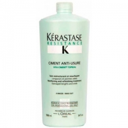 Фото Kerastase Resistance Ciment Anti-Usure - Укрепляющее средство для ослабленных волос и посечённых кончиков, 1000 мл