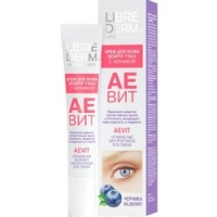 Купить со скидкой Librederm Aevit Anti-Puffiness Eye Cream - Крем против отеков для кожи вокруг глаз с черникой, 20 мл