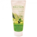 Фото Deoproce Natural Perfect Solution Cleansing Foam Green Edition Cucumber - Пенка для умывания с огурцом, 170 г