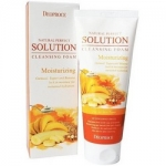Фото Deoproce Natural Perfect Solution Cleansing Foam Moisturizing - Пенка для умывания с овсянкой и бананом, 170 г