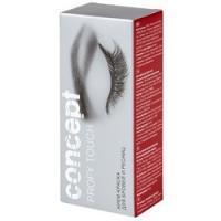 Concept Eyelashes And Eyebrows Color Cream - Крем-краска для бровей и ресниц, Иссиня-черный, 30+20 мл