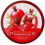 Фото Deoproce Premium Clean Moisture Pomegranate Massage Cream - Крем массажный с экстрактом граната, 300 г