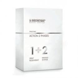 Фото La Biosthetique Speciality Hair Shaft Treatment Action 2 Phases - Комплексный уход для восстановления волос (набор) 50+100 мл