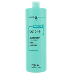 Фото Kaaral Purify Colore Shampoo - Шампунь для окрашенных волос на основе фруктовых кислот ежевики, 1000 мл