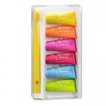 Фото Curaprox - Набор зубных паст шесть вкусов 6х10мл + зубная щетка для детей, 1 шт