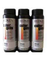 Redken - Краска-лак для волос Колор Гель, 6RR огонь, 3*60 мл