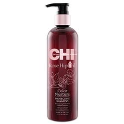 Фото CHI Rose Hip Oil Shampoo - Шампунь с маслом лепестков роз, 340 мл