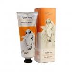 Фото FarmStay Visible Difference Hand Cream Horse Oil - Крем для рук с лошадиным маслом для сухой кожи, 100 г