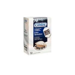 Фото Contex Extra sensation - Презервативы с крупными точками и ребрами, 18 шт