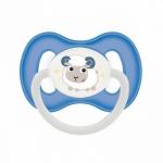 Фото Canpol Bunny&Company - Пустышка симметричная силиконовая, 6-18 месяцев, голубая