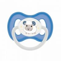 Canpol Bunny&Company - Пустышка симметричная силиконовая, 6-18 месяцев, голубая