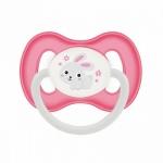 Фото Canpol Bunny&Company - Пустышка симметричная силиконовая, 6-18 месяцев, розовая