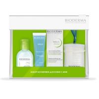 Купить Bioderma Sebium - Набор для комбинированной и жирной кожи, склонной к акне, 30 мл + 100 мл + 45 мл