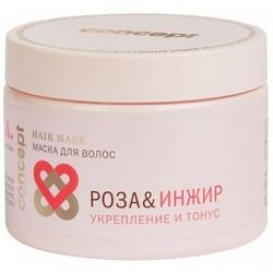 Фото Concept Spa Power Tonus Hair Mask - Маска для волос укрепление и тонус, Роза и инжир, 350 мл