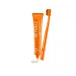"""Фото Curaprox - Набор зубная паста """"Чистое счастье"""" со вкусом персик-абрикос, 90 мл + ультрамягкая  зубная щетка, 1 шт"""