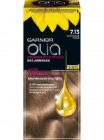 Garnier Olia - Стойкая крем-краска для волос 7.13 Золотистый русый, 112 мл
