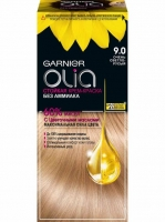 Garnier Olia - Стойкая крем-краска для волос 9.0 Очень светло-русый , 112 мл