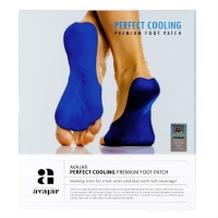 Avajar Perfect Cooling Premium Foot Patch - Охлаждающий патч для ступней ног с детокс-эффектом, 1 шт
