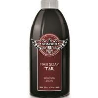 Kondor Hair and Body Hair Soap Tar - Шампунь для мужчин себорегулирующий шампунь с экстрактом хмеля, 300 мл<br>