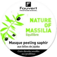 Fauvert Professionnel Nature Of Massilia Masque Peeling Saphir - Маска Сапфир-пилинг с микро-гранулами жожоба, 450 мл