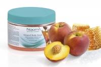 Купить Naomi - Солевой скраб для тела с минералами Мертвого моря с экстрактом персика для всех типов кожи, 350 мл