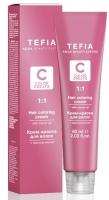 Tefia Color Creats - Крем-краска для волос с маслом монои, 12.10 суперосветляющий экстра лиловый, 60 мл + оксид 12%, 120 мл