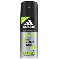 Купить Аdidas 6in1 - Дезодорант-антиперспирант спрей для мужчин, 150 мл, Adidas