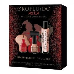 Фото Orofluido -Подарочный набор - ЭликсирOrofluido Asia (эликсир 50 мл + лаки для ногтей)