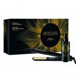Фото Orofluido - Подарочный набор - Спрей для термозащиты волос Heat Protector Spray, 150 мл + Выпрямитель для волос Hair Straightener
