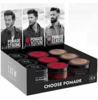 "American Crew Choose Pomade Display - Дисплей ""Выберите свой стайлинг"" ( pomade 85гр х3,  heavy hold pomade 85гр х3, cream pomade 85гр х3)"