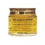 Фото FarmStay - Ампульный крем с золотом и пептидами, 80 мл