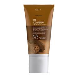 """Фото Lakme Teknia Ultra brown treatment - Средство для поддержания оттенка окрашенных волос """"Коричневый"""" 50 мл"""