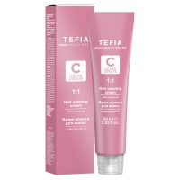 Купить Tefia Color Creats - Крем-краска для волос с маслом монои, 8.2 светлый блондин бежевый, 60 мл