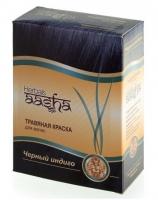 Aasha Herbals - Краска травяная для волос, Черный индиго, 60 мл