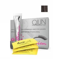 Ollin Vision Black - Крем-краска для бровей и ресниц (черный) 20 мл+салфетки