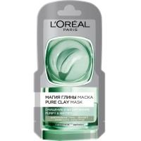 Купить L'Oreal Dermo-Expertise - Маска для лица Магия глины очищение и матирование, 6 мл
