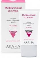 Aravia Professional - СС-крем защитный SPF-20 Multifunctional CC Cream Vanilla 01, 50 мл
