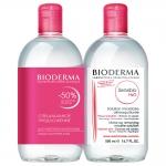 Фото Bioderma Sensibio Н2О - Мицеллярная вода для чувствительной кожи, 2*500 мл