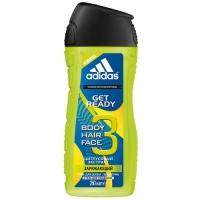 Adidas Get Ready - Гель для душа для мужчин, 250 мл