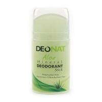DeoNat - Дезодорант кристалл с травами и соком алоэ вера, овальный, 100 г