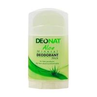 DeoNat - Дезодорант кристалл с травами и соком алоэ вера, плоский, 100 г