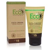 Купить Eco Suncare Natural Sun Protection Face Cream SPF 15 - Натуральный солнцезащитный крем для лица, 50 мл