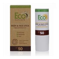 Eco Suncare Natural Sun Protection Body & Face Stick SPF 50 - Солнцезащитный карандаш для чувствительных участков кожи, 17 мл