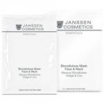 Фото Janssen Biocellulose Mask Face & Neck - Универсальная интенсивно увлажняющая лифтинг-маска для лица и шеи с голубикой, 1 шт