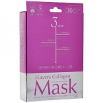 Japan Gals 3Layers Collagen Mask - Маска для лица с 3 видами коллагена, 30 шт