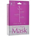Фото Japan Gals 3Layers Collagen Mask - Маска для лица с 3 видами коллагена, 30 шт